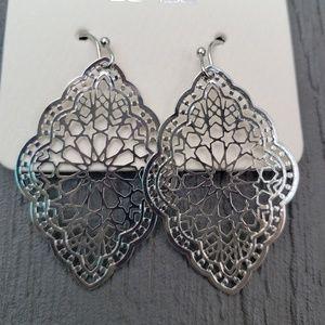 Jewelry - Ornate Stencil Disc Earrings